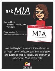Ask-MIA_Flyer_Feb 25 Virtual Open House Insurance Issues